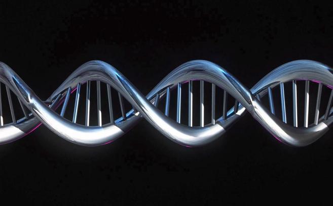 Imagen computerizada de una cadena de ADN.