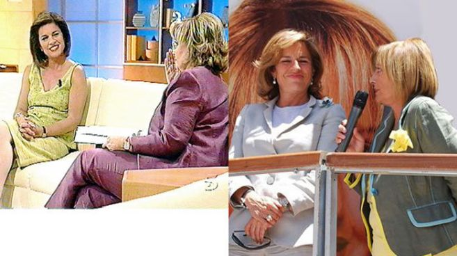 Ana Botella fue entrevistada tanto en Telecinco como en Punto Radio...