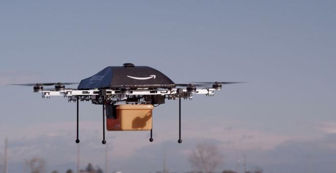 Amazon también ha decidido apostar por los drones en sus repartos