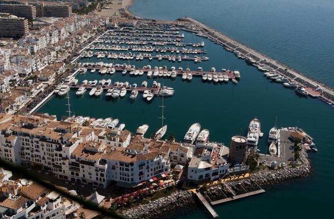 Imagen aérea de Puerto Banús en Marbella