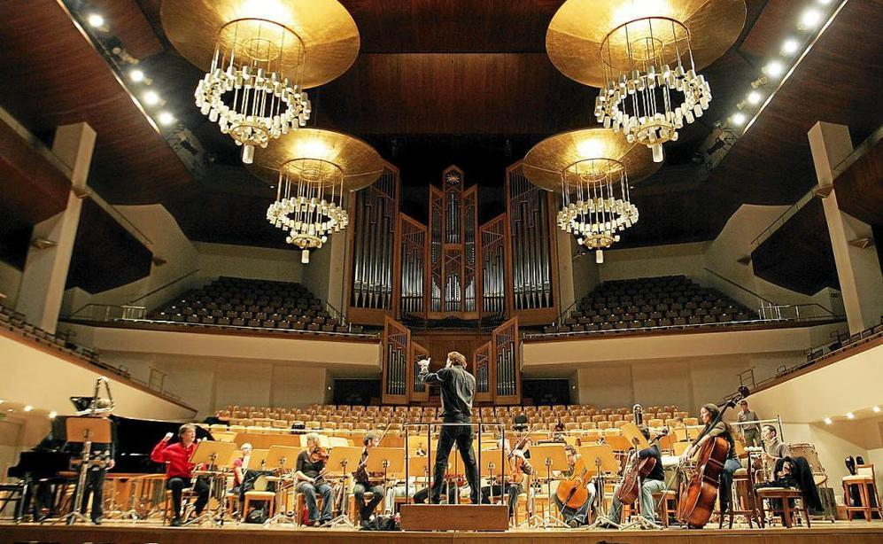 Un ensayo del Contrechamps Neue Vocal Solisten en el Auditorio...