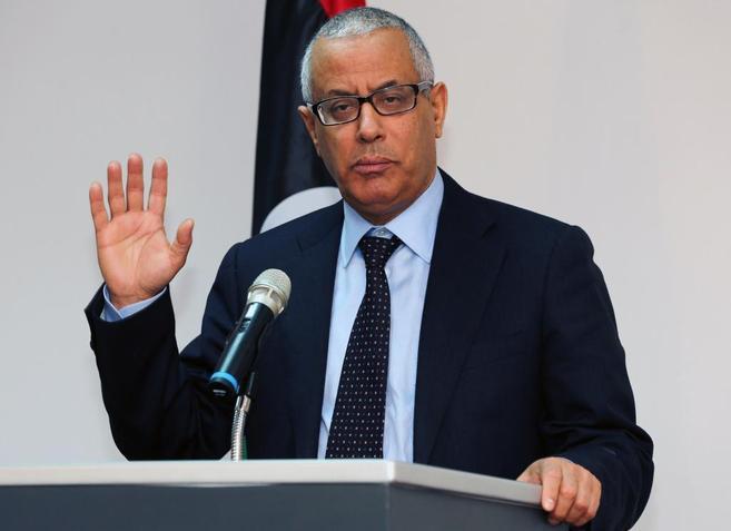 El primer ministro libio, Ali Zeidan, en una conferencia de prensa.