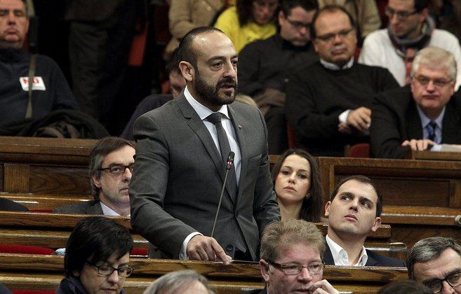 Cañas, durante una intervención en el Parlament de Catalunya.