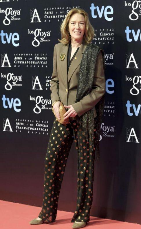Susi Sánchez en la gala de los nominados a los Goya celebrada el...