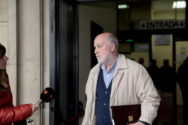 José Cabrera, sindicalista de CCOO, tras comparecer ante la juez...