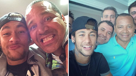 Neymar posa con su padre en dos imágenes de las redes sociales