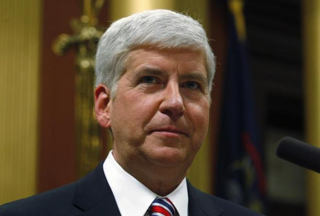 El gobernador de Michigan, Rick Snyder.