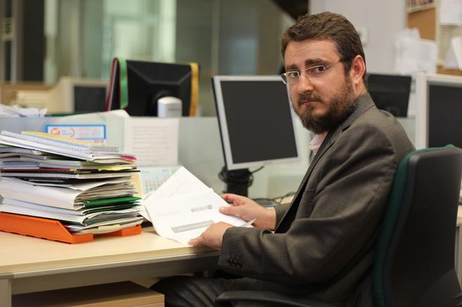El escritor Pablo Sebastiá en una de sus visitas a la redacción de...