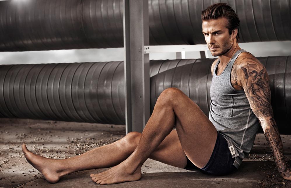 Imagen de la nueva campaña de David Beckham Bodywear. Foto: H&M.