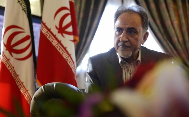El vicepresidente iraní, Mohamad Ali Nayafi, durante la entrevista.