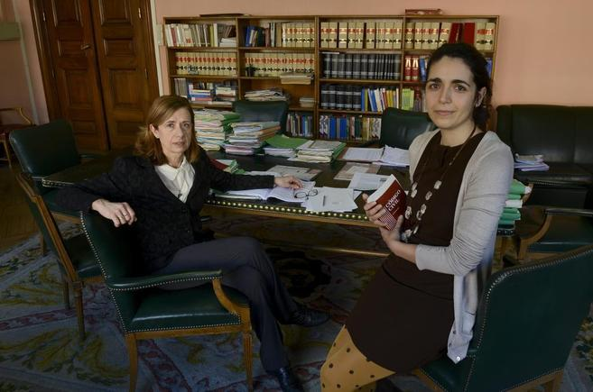 A la izquierda, la magistrada Rosario García, a la derecha, la...