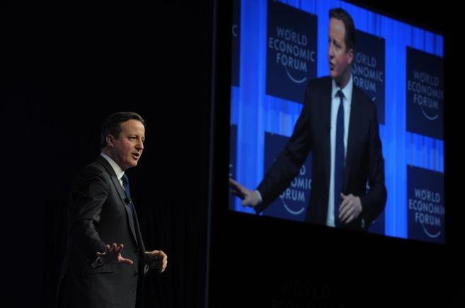 David Cameron en su intervención en el Foro Económico Mundial.