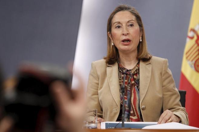Ana Pastor, durante la rueda de prensa tras el Consejo de Ministros.