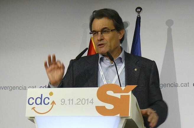 Mas, durante su intervención en en Calella de Palafrugell (Girona).