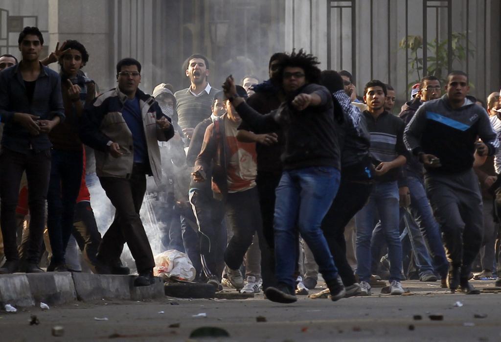 Protestas en la plaza de Tahrir