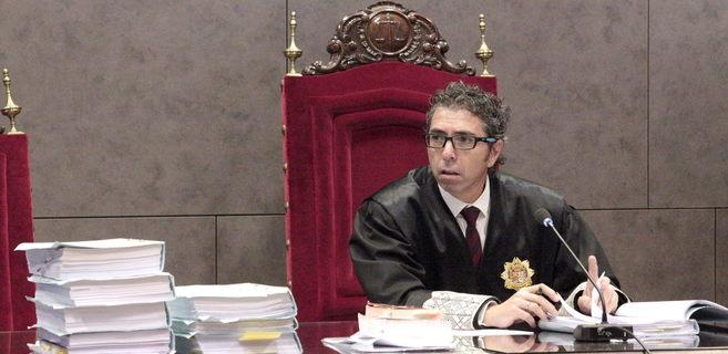 El juez Marcos Bermúdez durante la celebración del juicio.