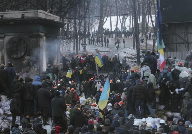 Protestas contra el Gobierno de Ucrania.
