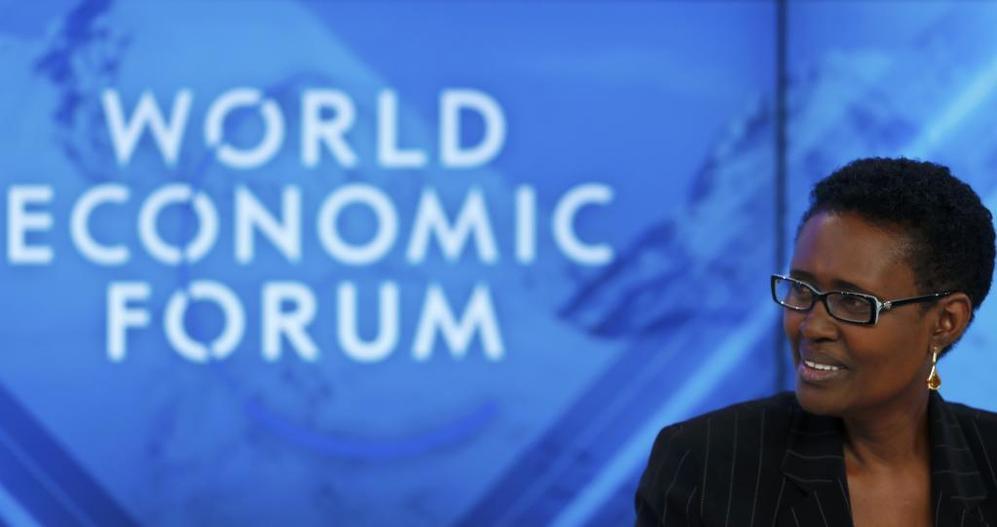 La directora ejecutiva de Oxfam Internacional, Winnie Byanyima, en...