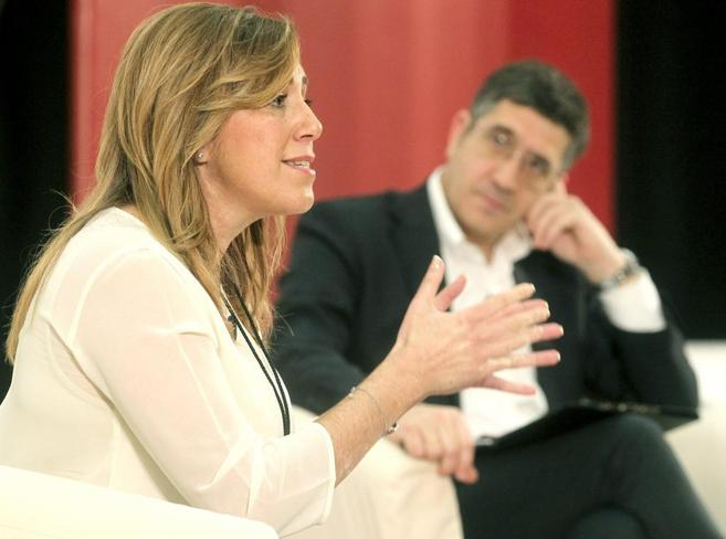 Susana Díaz aseguró este sábado en San Sebastián que el secretario...