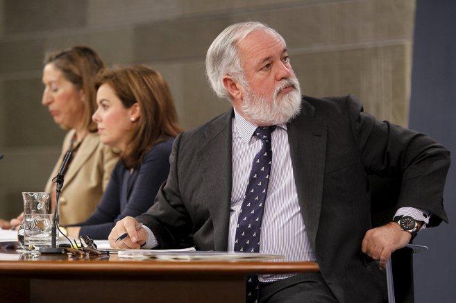 El ministro Arias Cañete, durante la presentación del reparto de las...