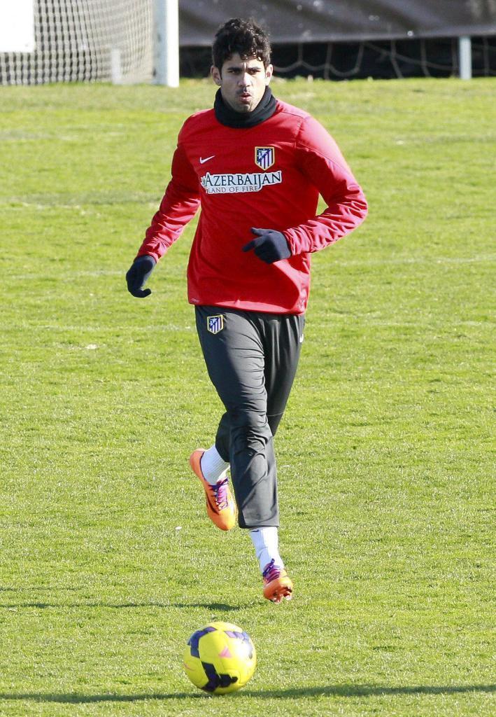 Diego Costa, durante un entrenamiento.