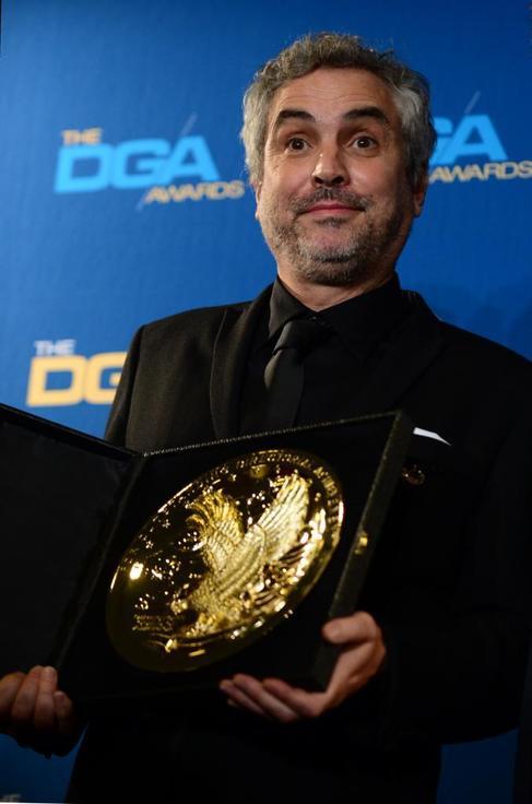 Alfonso Cuarón, con el premio.