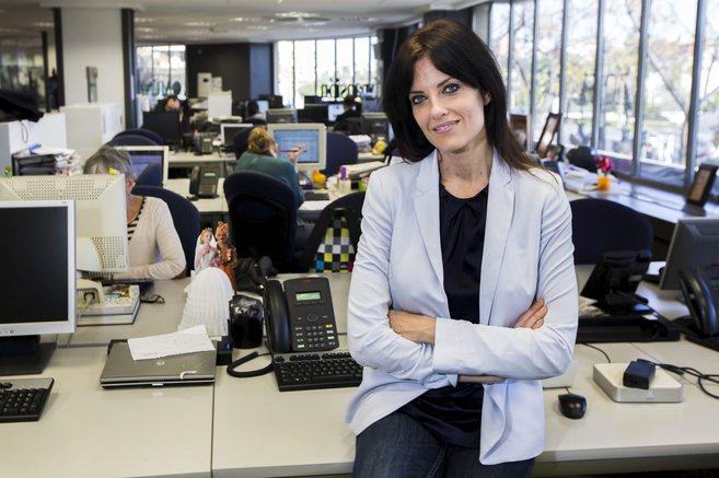 Cristina Seguí, en su visita a la redacción de El Mundo la pasada...