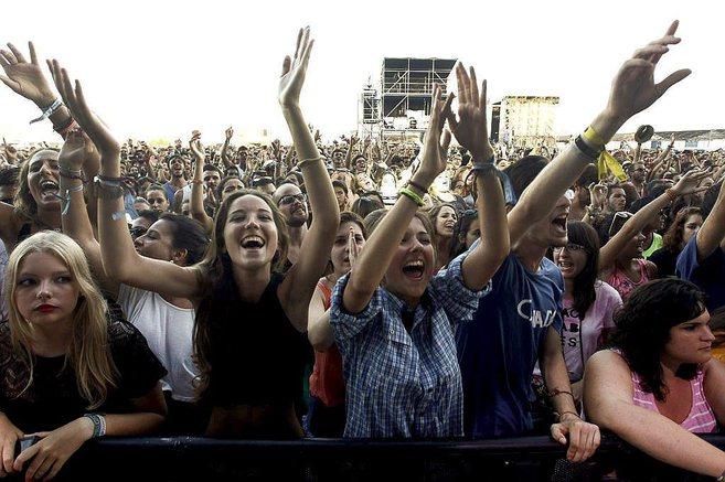 Público durante uno de los conciertos del Arenal Sound.