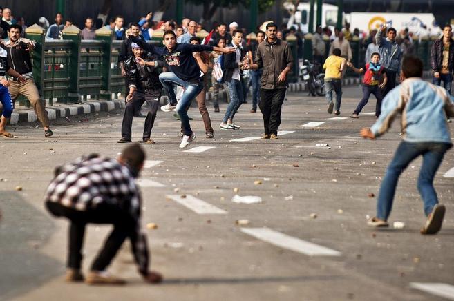 Recientes incidentes en la plaza Tahrir de El Cairo.