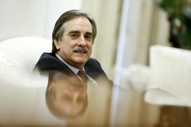 El ex ministro de Trabajo, Valeriano Gómez, durante la entrevista