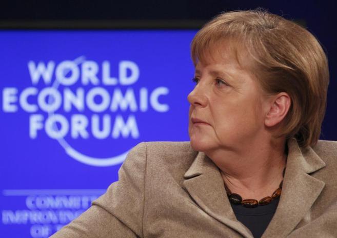 Angela Merkel, en el Foro de Davos 2011.