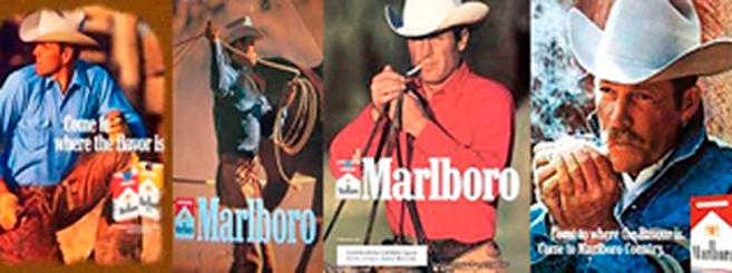 En la imagen, varios actores que protagonizaron al vaquero de Marlboro...