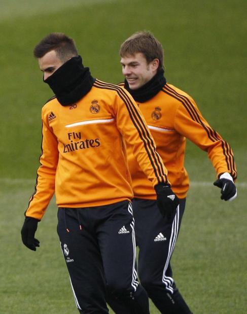Jesé e Illarramendi, durante el entrenamiento del Real Madrid.
