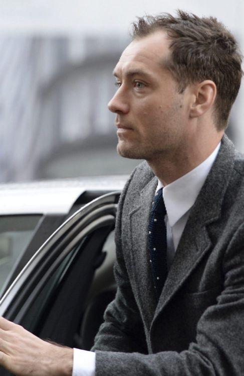 El actor, a su llegada a los tribunales.