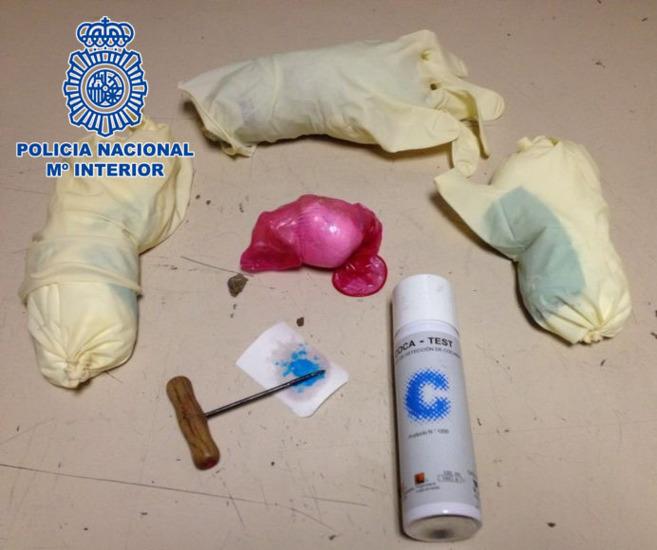 Imagen del material incautado en Barajas este pasado fin de semana.