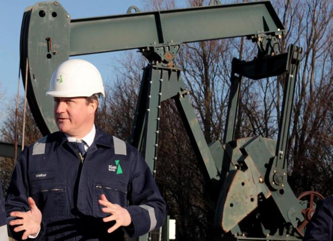 David Cameron, el 13 de enero, durante una visita a una planta de...