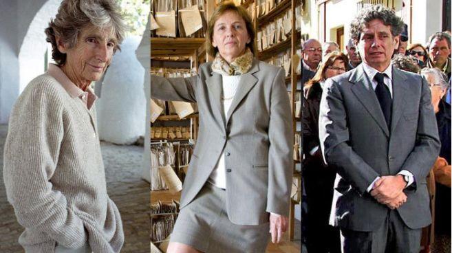 De izq. a dcha.: Luisa Isabel Álvarez de Toledo, XXI duquesa de...