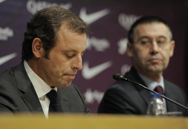 Sandro Rosell y Josep Maria Bartomeu.