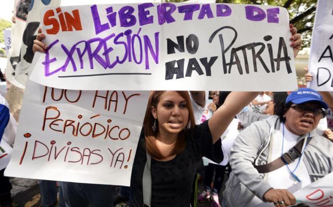 Imagen de la manifestación en Caracas.