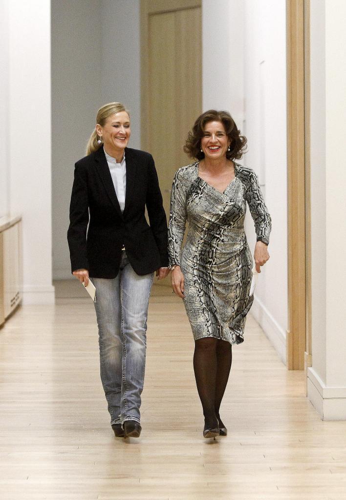 Cristina Cifuentes y Ana Botella, este martes en el Ayuntamiento.