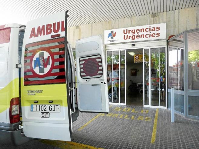 Entrada de urgencias de un hospital en la Comunidad Valenciana.