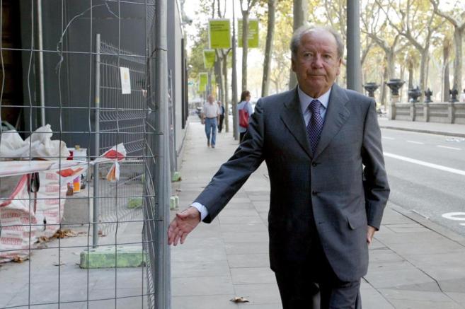 Josep Lluís Núñez, en una de sus comparecencias en el juicio...