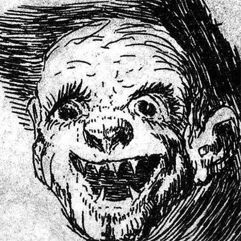 Caras extraídas de 'Los caprichos' de Goya.