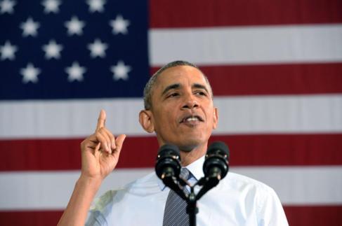 El presidente estadounidense, Barack Obama, durante un discurso en...