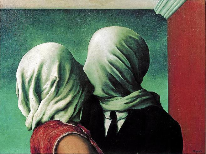 'Los amantes', cuadro de René Magritte.