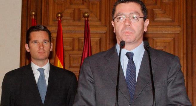 Gallardón y Urdangarin en una imagen de archivo.