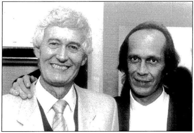 Félix Grande y Paco de Lucía, en 1991.