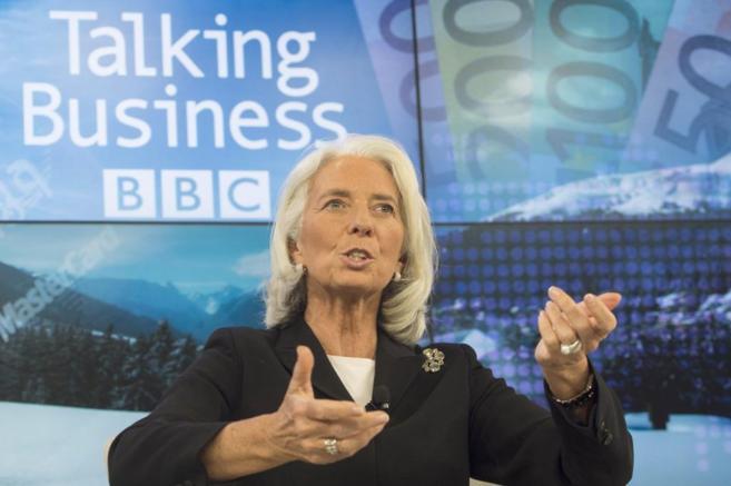 Christine Lagarde, directora del Fondo Monetario Internacional, en una...