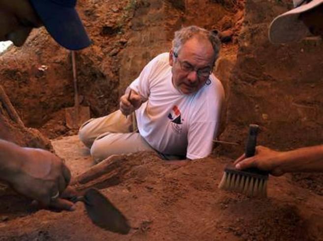 El coordinador de búsquedas de restos de desaparecidos, Rogelio...