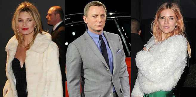 Kate Moss, Daniel Graig y Sienna Miller.